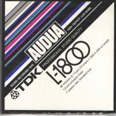 Banda de magnetofon Audua - TDK - 1800FT/555m, ambalaj original, sigilat