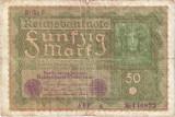 Germania bancnota 50 marci 1919