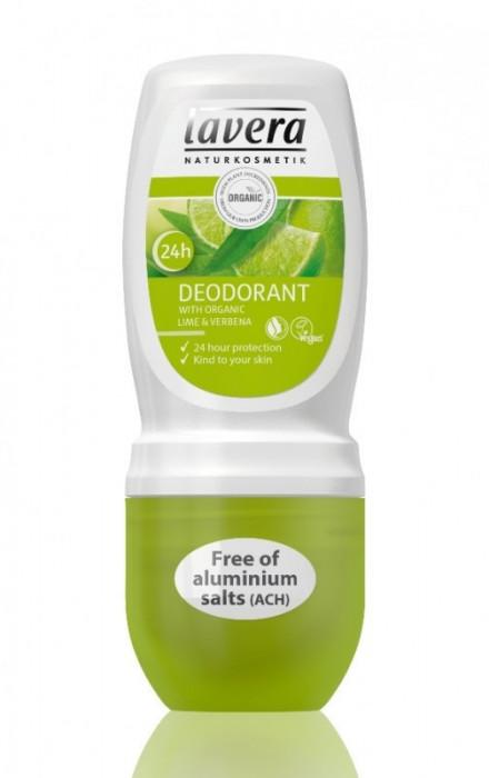 Deodorant roll-on bio Lime si Verbina, LAVERA, 50 ml