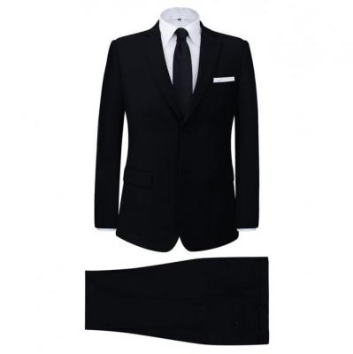 Costum bărbătesc 2 piese cu cravată mărimea 50, Negru foto