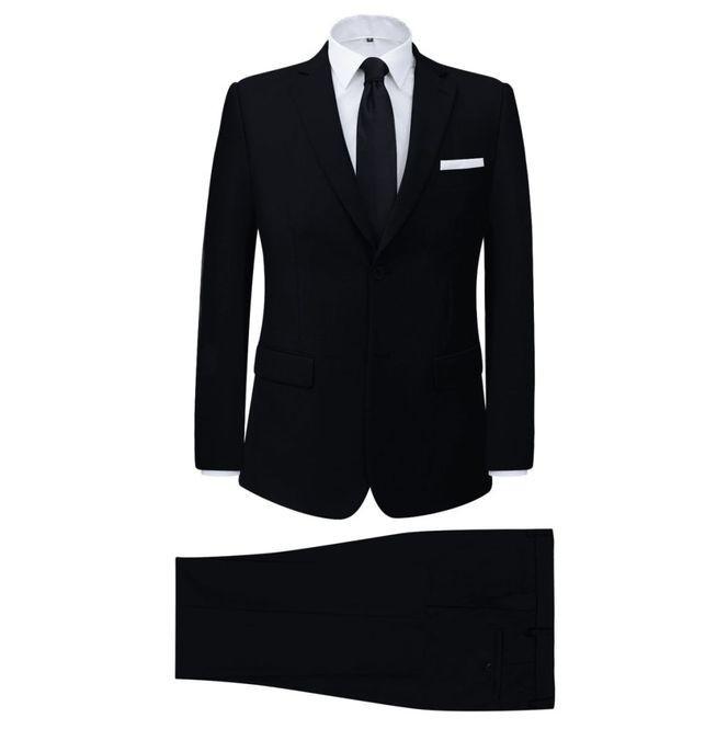 Costum bărbătesc 2 piese cu cravată mărimea 50, Negru