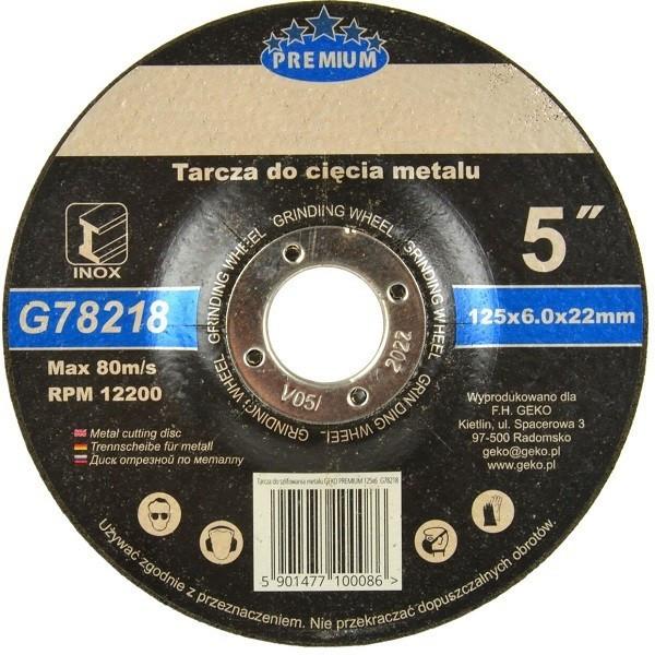 Disc de polizat inox 125x6x22