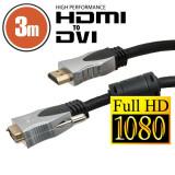 Cablu DVI-D / HDMI • 3 m Profesional cu conectoare placate cu aur Best CarHome