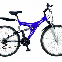 Bicicleta MTB HT 26 FIVE Falcon cadru otel culoare albastru alb