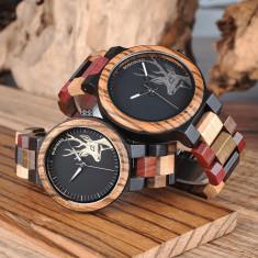 Set ceasuri din lemn multicolor Bobo Bird pentru cupluri