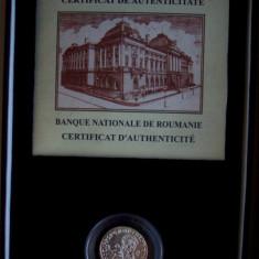 SV * Romania  BNR  REPLICA  DINAR  ROMAN  ARGINT + Certificat + Casetă     PROOF