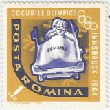 România, LP 571/1963, J.O. Innsbruck, dantelate, eroare, MNH