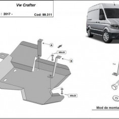 Scut metalic rezervor adBlue VW Crafter 2017-prezent