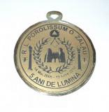 Medalie masonica Romania Porolissum Zalau, 5 ani de lumina, 2005-2010