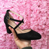 Pantofi Citami negri cu toc eleganti -rl