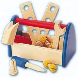 Trusa scule constructie din lemn pentru copii.