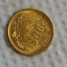 Mexic moneda aur 2 pesos 1920