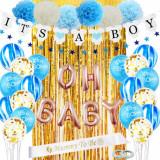 Set 31 baloane si accesorii pentru asteptarea bebelusului It's a boy, Oem