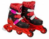 Role pentru copii cu 3 roti Ladybug Buburuza Miraculoasa marime reglabila 35-38