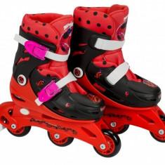 Role pentru copii cu 3 roti Ladybug Buburuza Miraculoasa marime reglabila 31-34