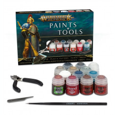 Set Vopsele si Accesorii Warhammer AOS, Age of Sigmar Paints+Tools