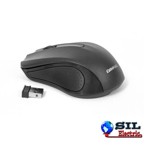 Mouse wireless USB 1000dpi negru, Omega