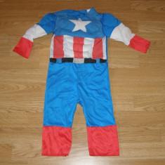 Costum carnaval serbare captain america pentru copii 1-2 ani, Din imagine