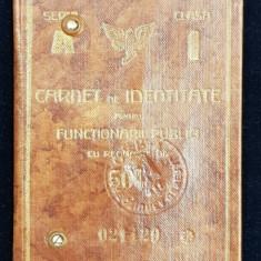 CAILE FERATE ROMANE - CARNET DE IDENTITATE , PE NUMELE DOCTORULUI TITUS DEMETRESCU DIN PITESTI , EMIS IN 1932