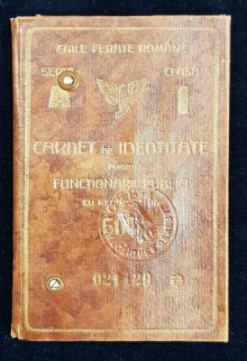 CAILE FERATE ROMANE - CARNET DE IDENTITATE , PE NUMELE DOCTORULUI TITUS DEMETRESCU DIN PITESTI , EMIS IN 1932 foto