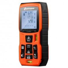 Multimetru Digital cu Laser LOMVUM Rangefinder cu 100m, Masurator Distanta si Volum cu Acumulator