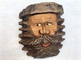 Masca rustica bavareza,sculptata in lemn