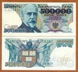Polonia 500 000 zl 1990 UNC