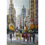 Peisaj urban - pictura in ulei PC-75, Peisaje, Realism