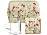 Cana cu suport pahar si tava - Wild Field Poppies | Creative Tops