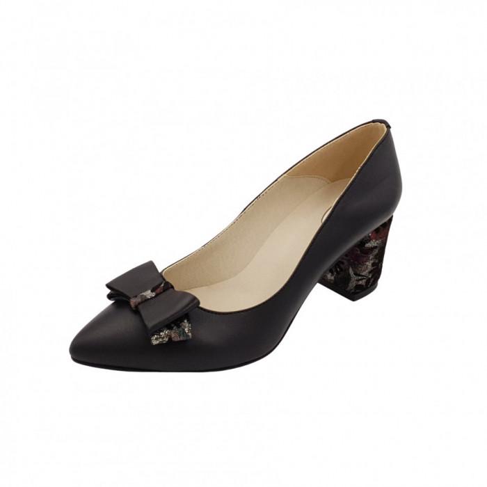 Pantofi dama, SandAli, stiletto, piele naturala, toc gros imbracat, funda,...