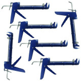 6 x Pistol albastru pentru tub de silicon
