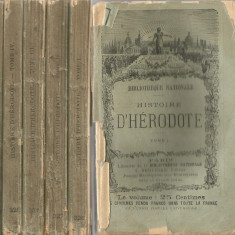 Histoire D'Herodote I-V - Bibliotheque Nationale - Paris 1894