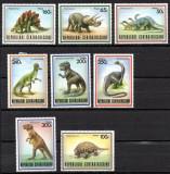 REP. CENTRAFRICANA 1988, Fauna, Animale preistorice, Dinozauri, neuzat, MNH, Nestampilat