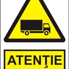 Indicator Atentie trafic autovehicule - Semn Protectia Muncii