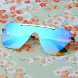 Ochelari De Soare Unisex Shield Vico Albastru Albastru