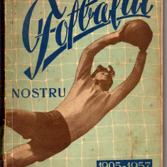 FOTBAL PRONOSPORT PREZINTA FOTBALUL NOSTRU 1905-1957 TIRAJ 20000 BUC