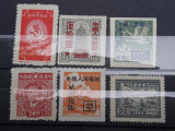 Lot 6 timbre nestampilate China