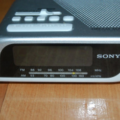 RADIO CU CEAS SONY DREAM MACHINE FM/AM CLOCK RADIO ICF-C205