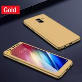 Cumpara ieftin Husa 360 cu sticla inclusa Samsung A6 (2018), Gold