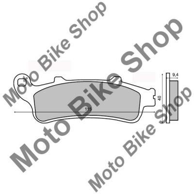 MBS Placute frana sinter Honda VFR 800 spate, Cod Produs: 225100343RM foto