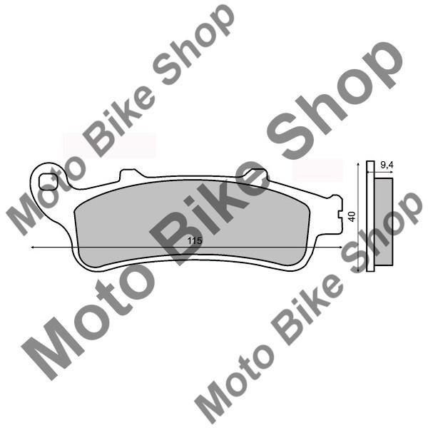 MBS Placute frana sinter Honda VFR 800 spate, Cod Produs: 225100343RM