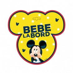 Semn auto Bebe la Bord - Mickey Mouse SEV9626 Children SafetyCare