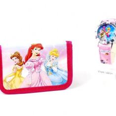 Set ceas pentru copii cu printese si portofel cadou