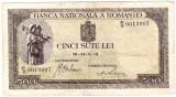 Bancnota 500 lei 1940 filigran vertical