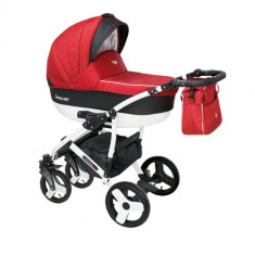 Carucior 2 in 1 Carera New Rosu
