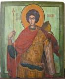 Sfântul Gheorghe, icoană pe lemn pictată pe ambele feţe