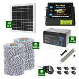 Pachet Gard electric 6,6j putere cu Panou Solar si 2000m de fir 120Kg