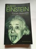 Albert Einstein, cuvinte memorabile, Humanitas, 2005