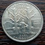 (M2340) MONEDA SUA - QUARTER DOLLAR 2001, LIT. D - VERMONT, America de Nord