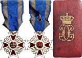 Ordinul - Coroana Romaniei Model : I - 1881 - pe timp de pace Clasa : V-a